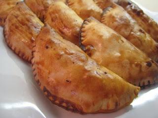 Receta de empanadillas de salmón con camarones y champiñones