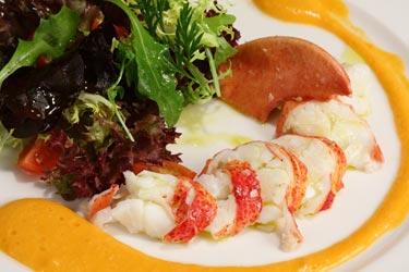 Recetas de bogavante: Ensalada de bogavante con crudités de verdura