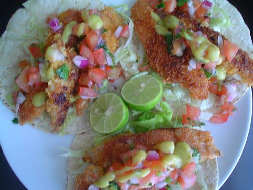Recetas de camarones: tacos de camarón para cóctel