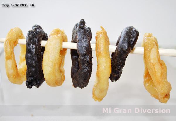Calamares rebozados en tempura