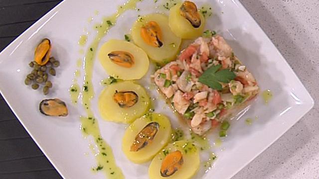 Salpicón de marisco y patatas