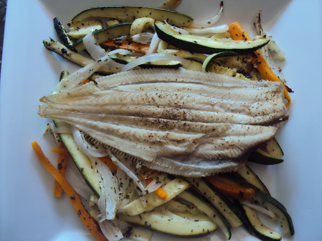 Lenguado con verduras