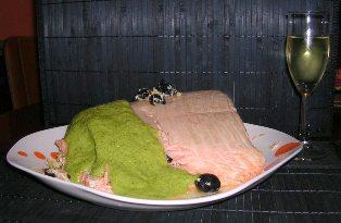 Merluza o salmón rellenos