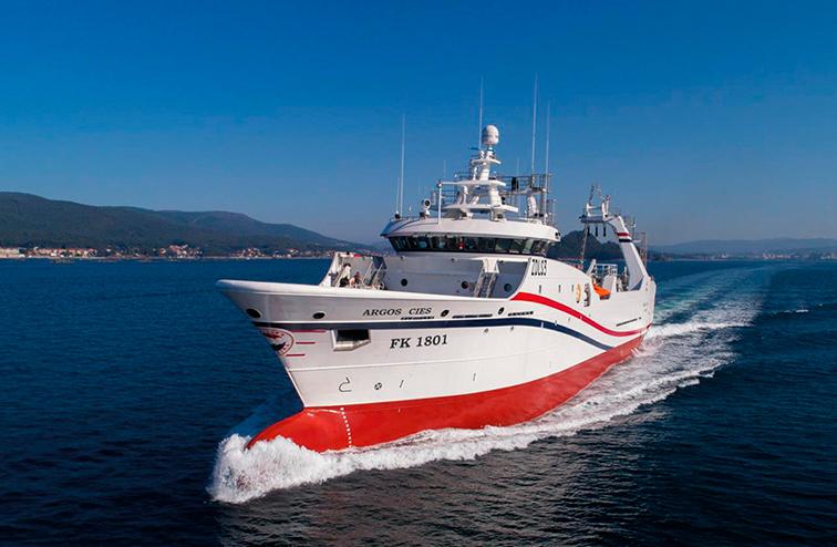 """El buque Argos Cíes opta al premio """"Mejor buque entregado en 2018"""""""