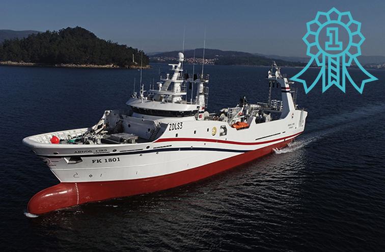La construcción naval más destacada del 2018 es el Argos Cíes